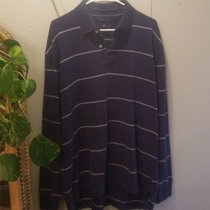 Long sleeve navy polo perfect for Fall